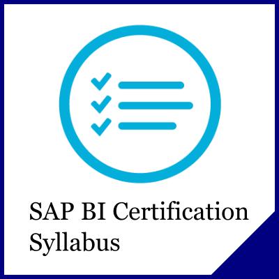 SAP BI Certification Syllabus