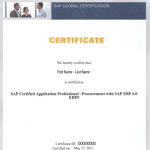 SAP Certification Prerequisites