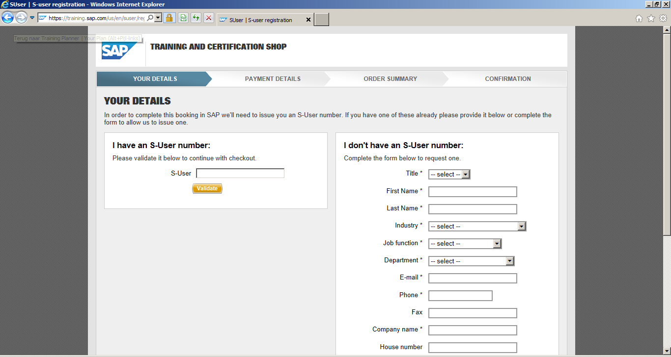 How to Register for SAP Certification: S-user