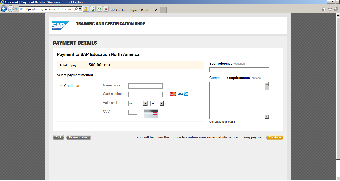 How to Register for SAP Certification: Payment