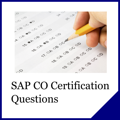 SAP CO Questions