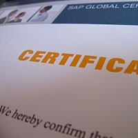 What is SAP certification?