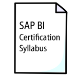 SAP BI Certification Syllabus