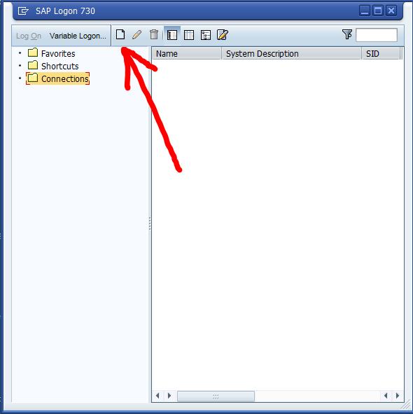 SAP Logon window