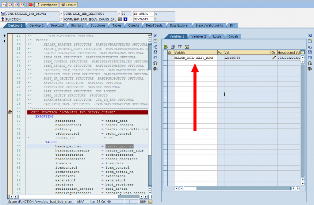 SAP Debugger: Changing Variable Values (Structure)