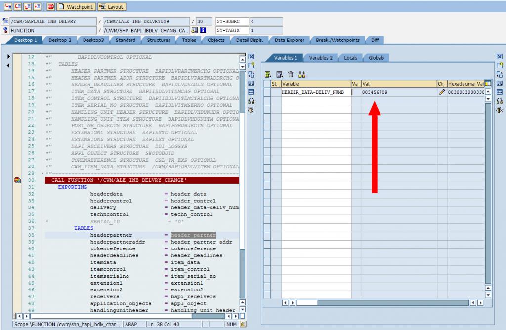SAP Debugger: Change Simple Variable [Confirm]