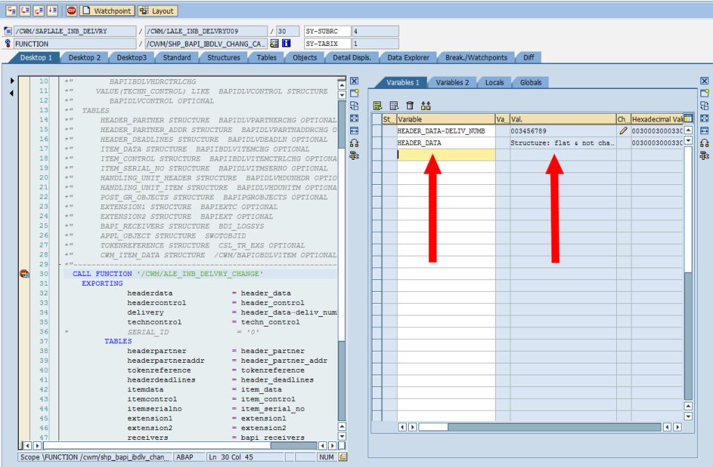 SAP Debugger: Change Structure Variable [Find]