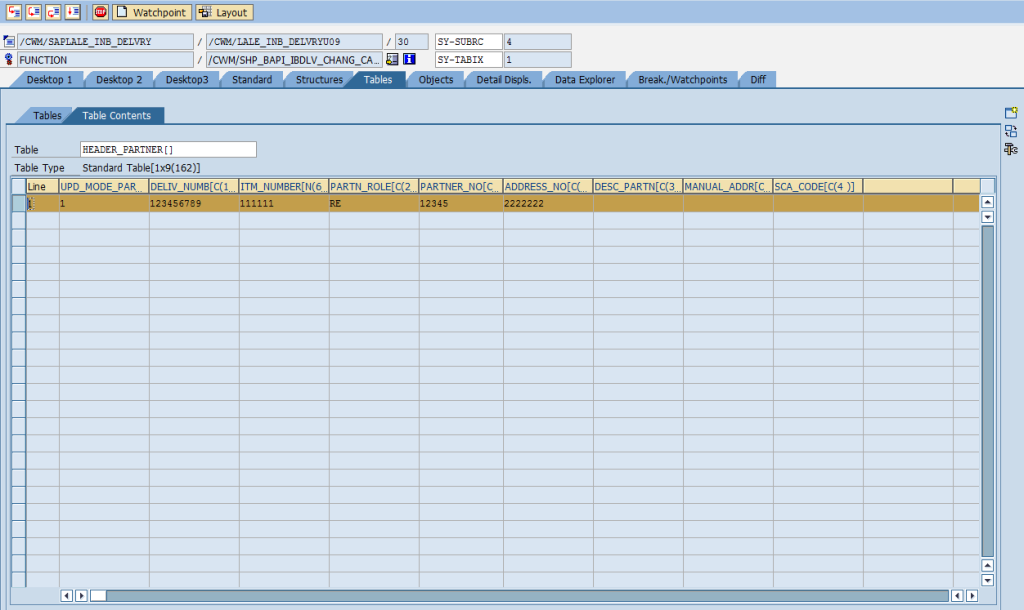 SAP Debugger: Change Table Variable [Detailed Overview]