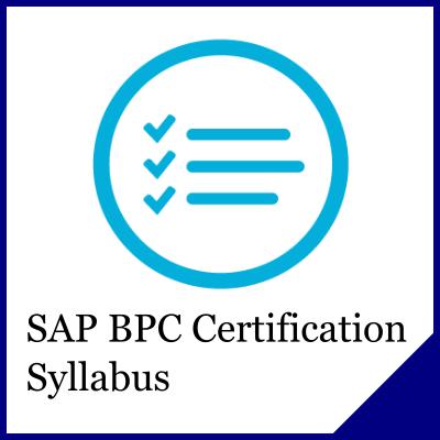 SAP BPC Syllabus