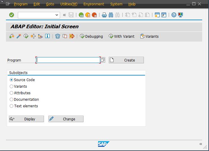 Contoh tampulan GUI SAP