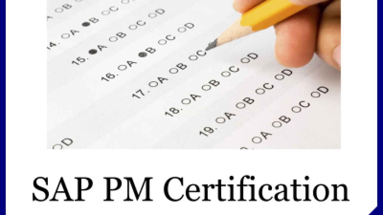 SAP PM Questions - SAP Certification and Training