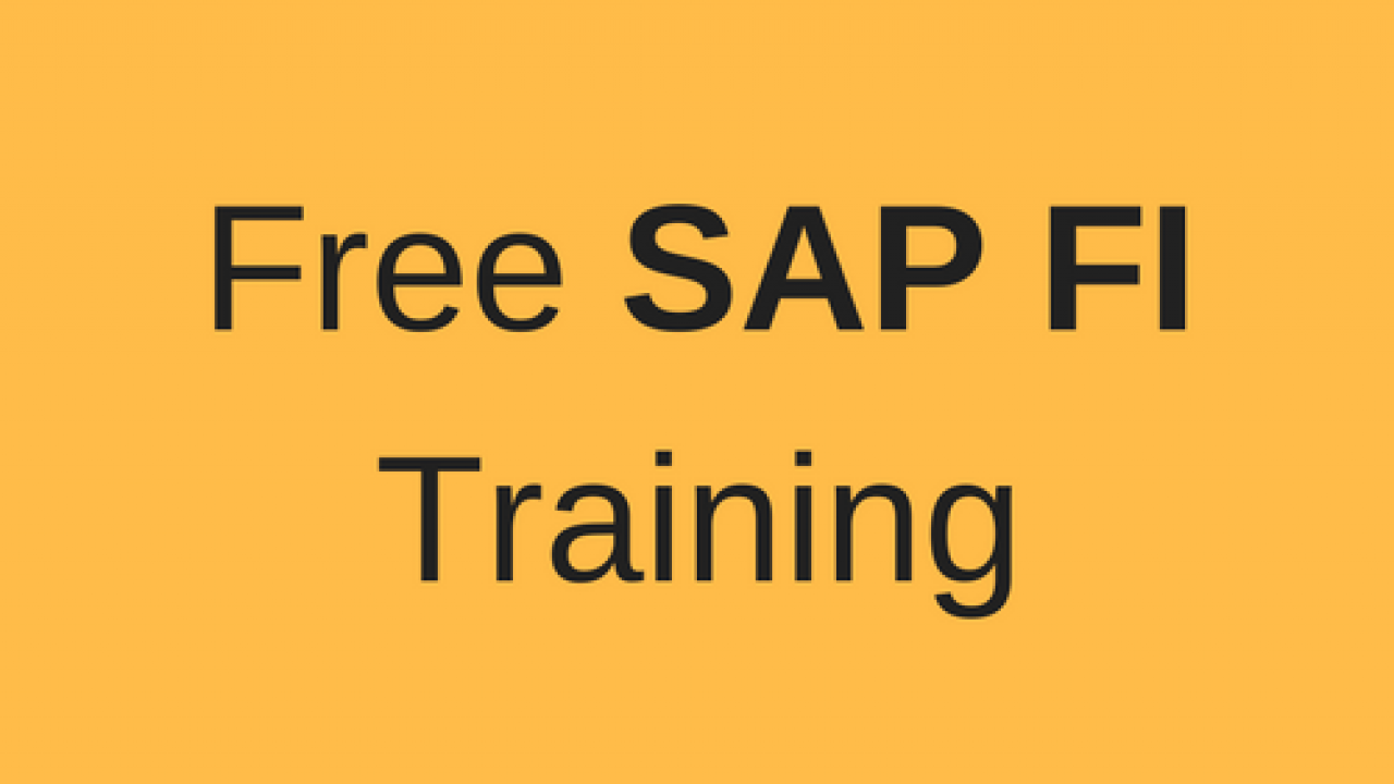SAP FI Training - Free Online SAP FI Course - ERProof