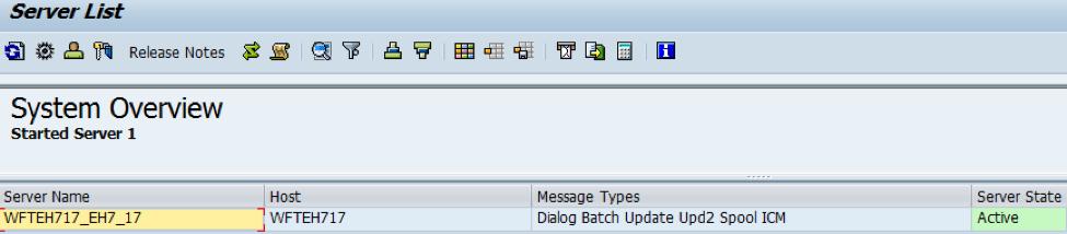 SM51 Server List