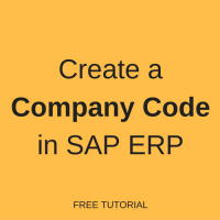 How to Create a Company Code in SAP
