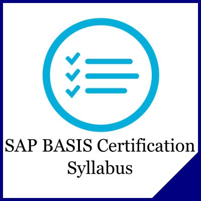 SAP BASIS Certification Syllabus