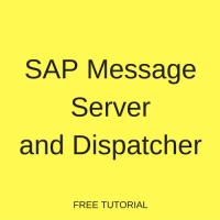 SAP Message Server and Dispatcher