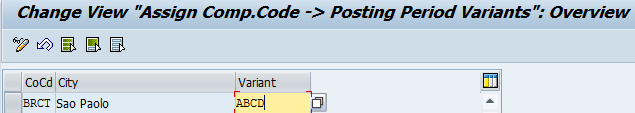 Assign Posting Variant to Company Code