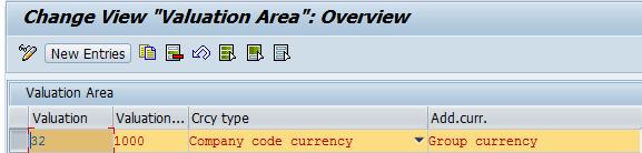 SAP Valuation Area