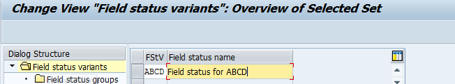 Define Field Status Variant by Copying an Existing One