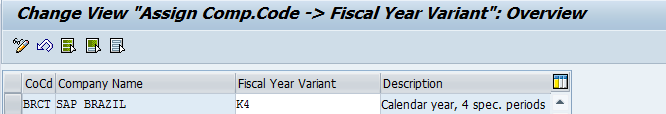 Assign a Company Code to a Fiscal Year Variant