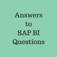 answers to sap bi questions