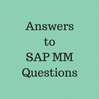 answers to sap mm questions