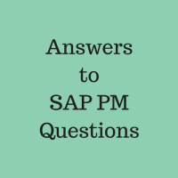 answers to sap pm questions