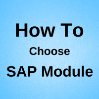 how to choose sap module