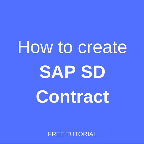how to create sap sd contract