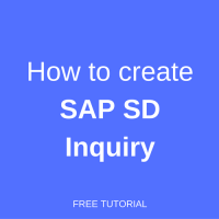 how to create sap sd inquiry