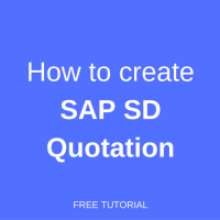 how to create sap sd quotation