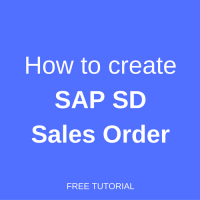 how to create sap sd sales order