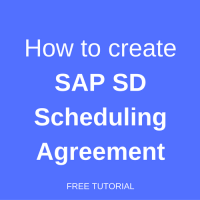how to create a scheduling agreement in sap sd