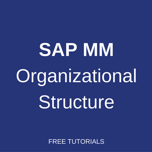 sap mm organizational structure