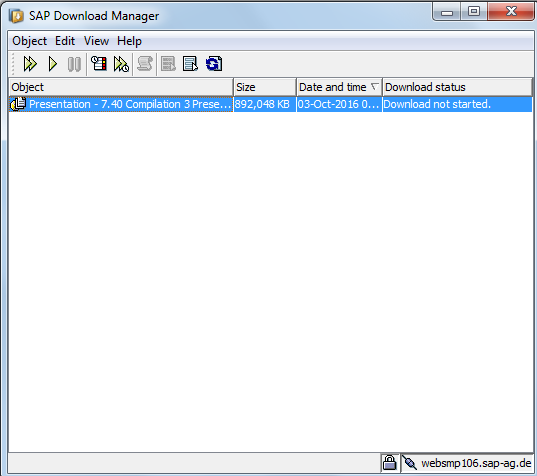 SAP Download Manager with SAP GUI