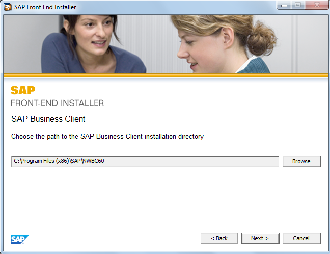 Select Target Directory for SAP Business Client