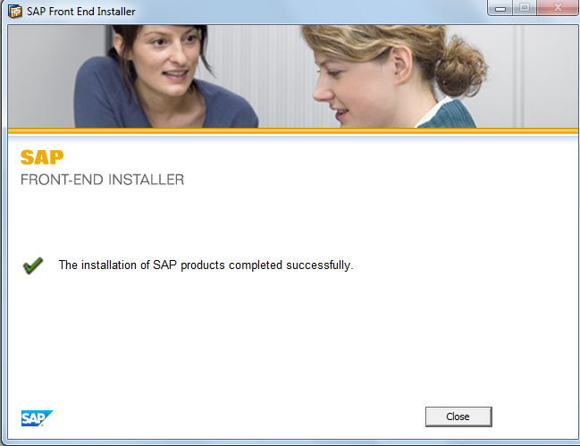 SAP GUI Installation Successfully Completed