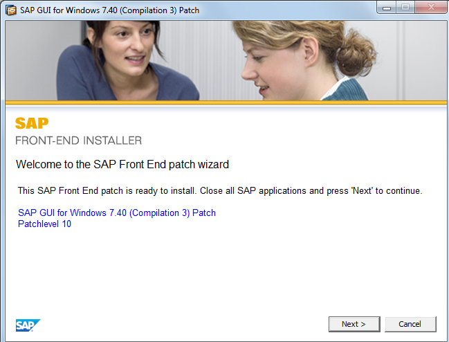 SAP Front-end Patch Wizard