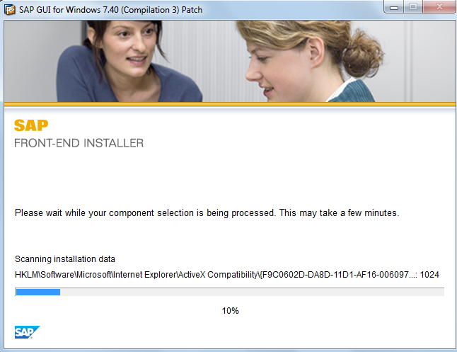 SAP GUI Patch Installation is in Progress