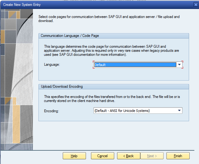 Language Configuration of SAP Logon