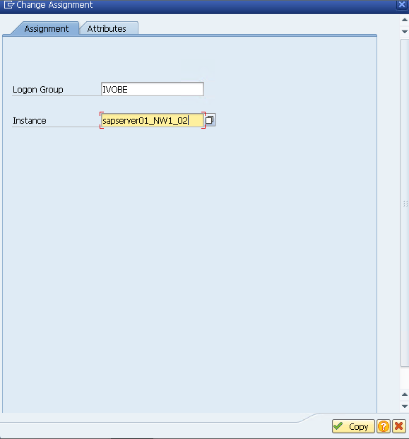 Assign an Instance to a Logon Group