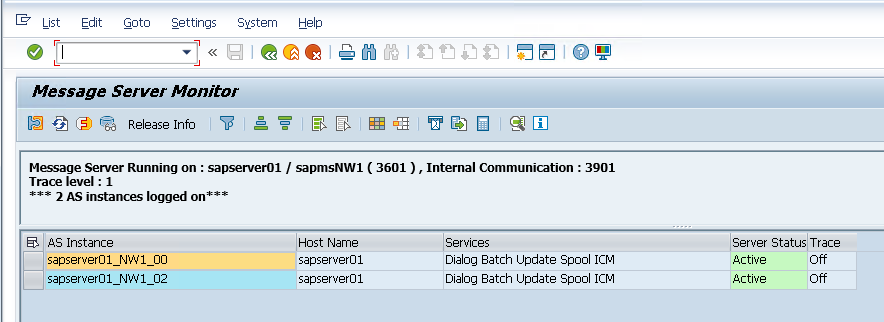 Check SAP Message Server Port Number