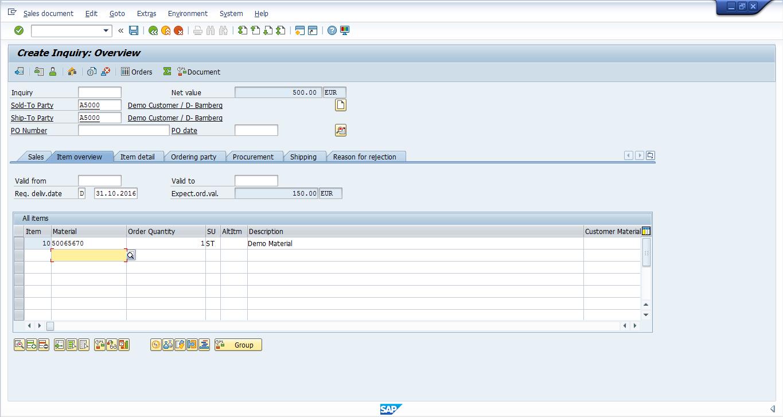 SAP SD Inquiry