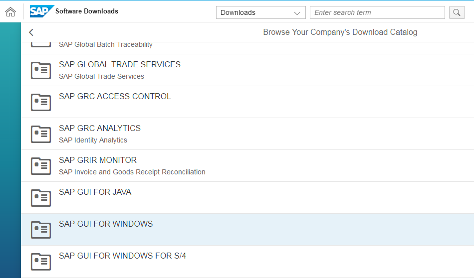 Choose SAP GUI for Windows