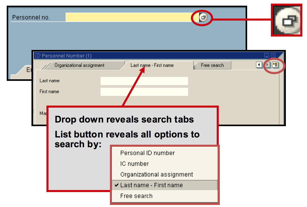 Employee search functionality
