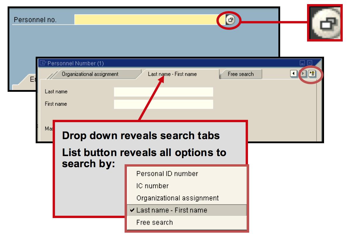 Employee search functionality