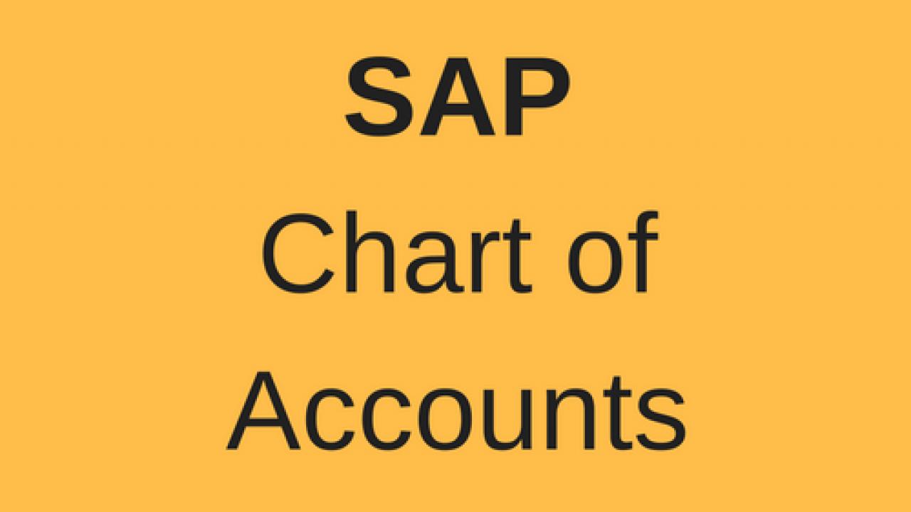 Sap Chart Of Accounts Free Sap Fi Training