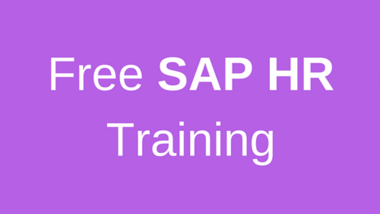 SAP HR Training (SAP HCM Training) - Online SAP HR Course