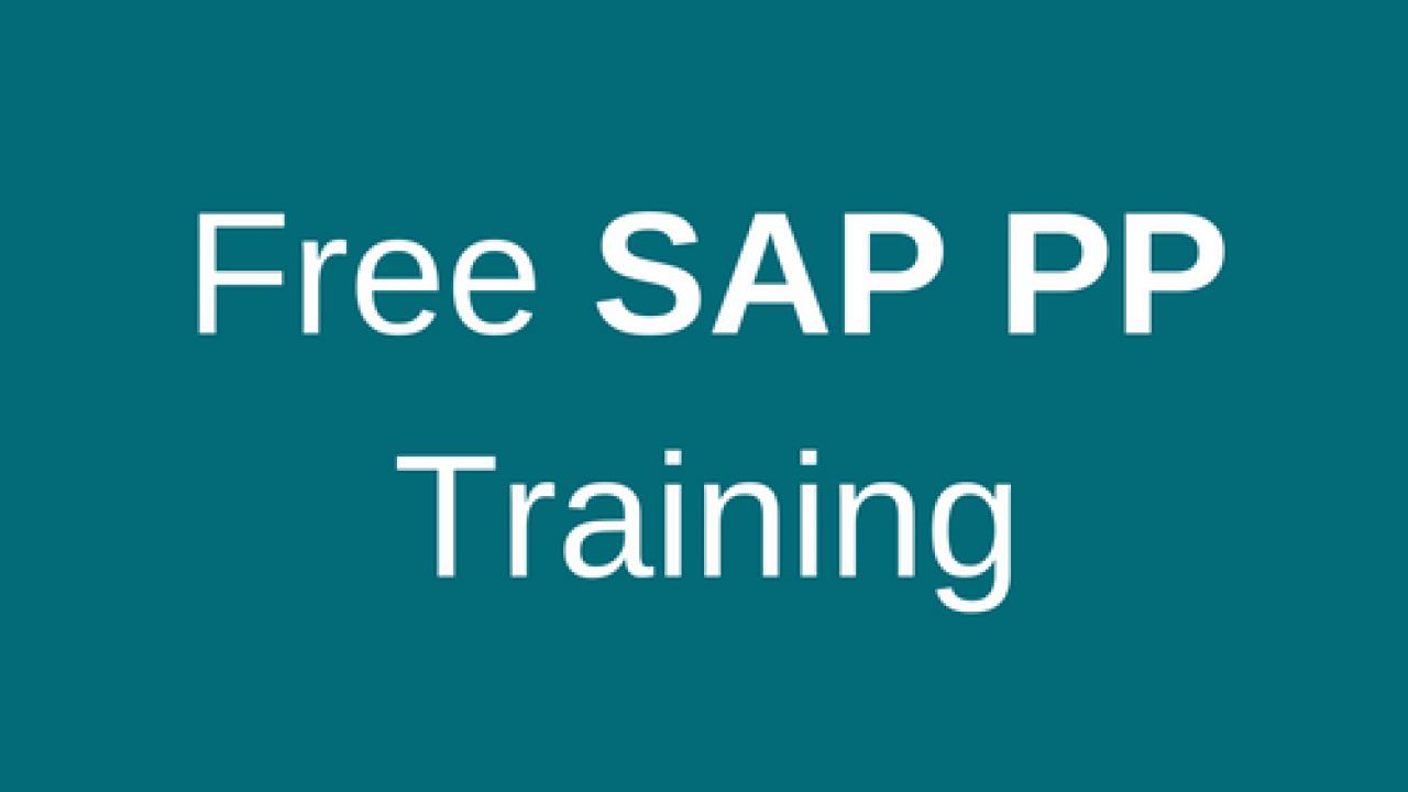 SAP PP Training - Free Online SAP PP Training Course - ERProof