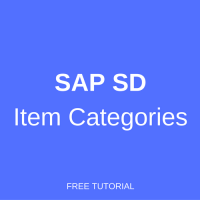 sap sd item categories